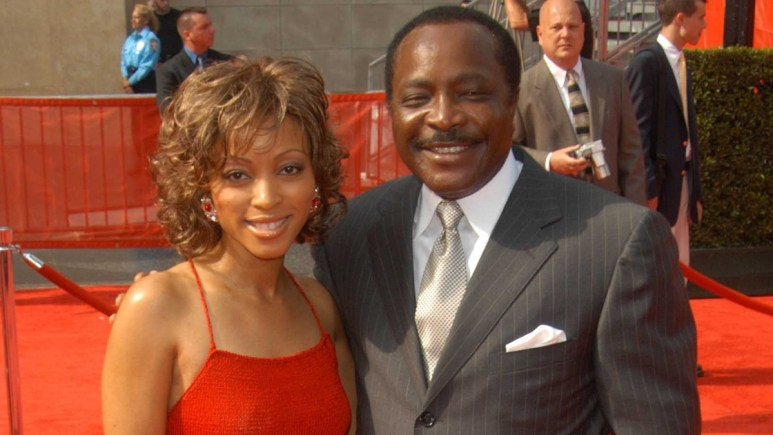 Joe Morgan and his daughter Lisa at the ESPY Awards in