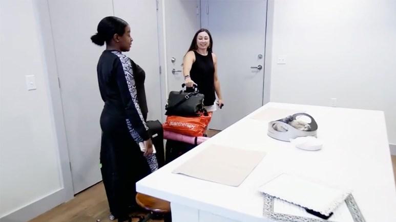 MAFS Season 11 Olivia and Amani leaving Olivia's apartment