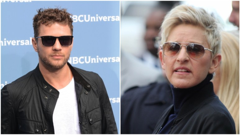 Ryan Phillippe and Ellen DeGeneres on the red carpet