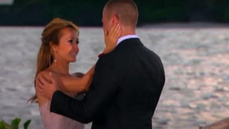 Ashley Hebert kisses JP Rosenbaum