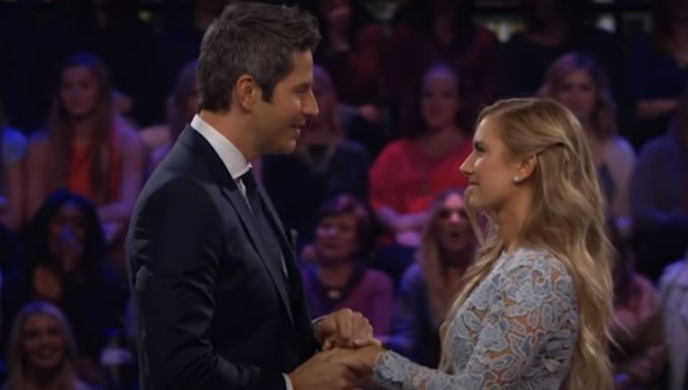 Arie Luyendyk Jr. proposes to Lauren in front of an audience