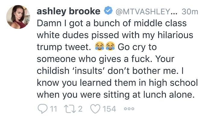 ashley mitchell follow up tweet