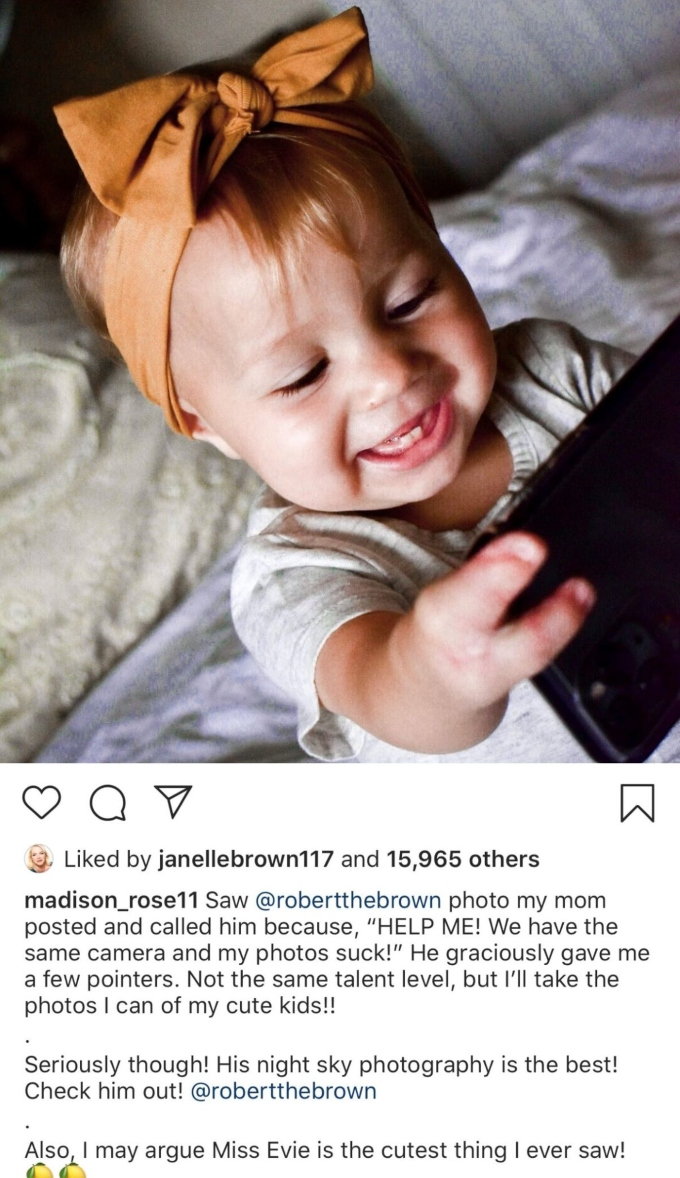Maddie Brown Brush shares adorable photo of Evie