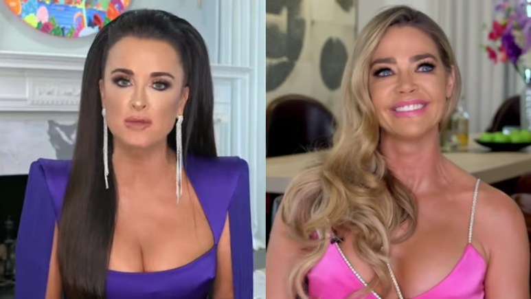 Kyle Richards and Denise Richards at the RHOBH reunion.