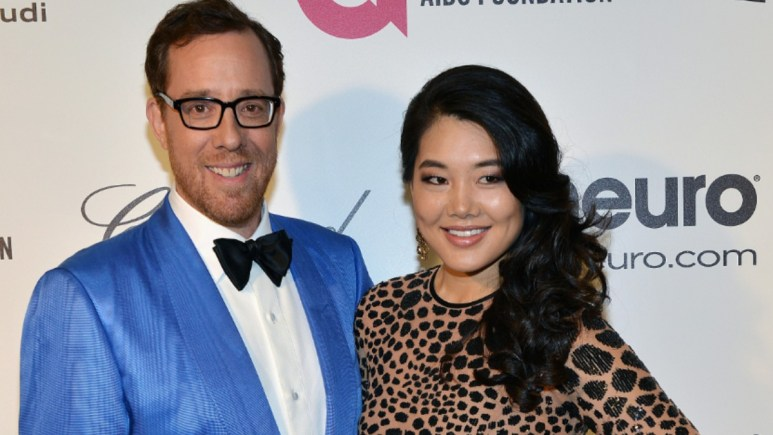 Rob Minkoff and Crystal Kung Minkoff at an event.