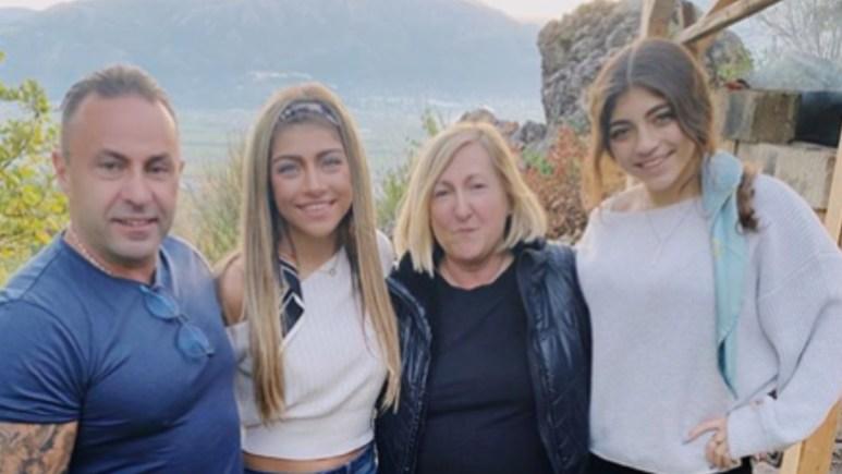 Joe, Gia, Filomena, and Milania Giudice together in Italy. Pic credit: @_giagiudice/Instagram