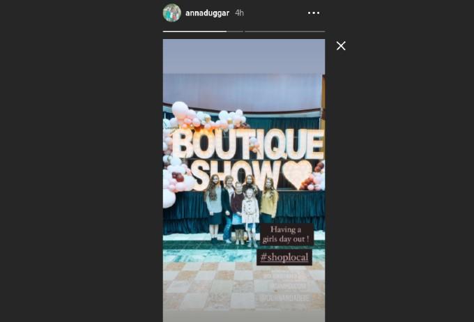 Anna Duggar's Instagram story.