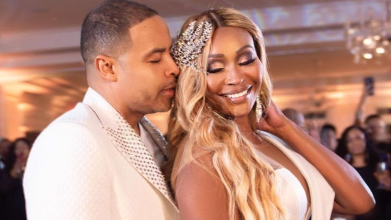 Pic of Cynthia Bailey and Mike Hill at their wedding.
