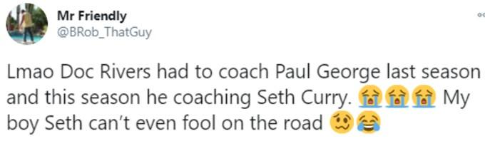 Fan mocks Seth Curry