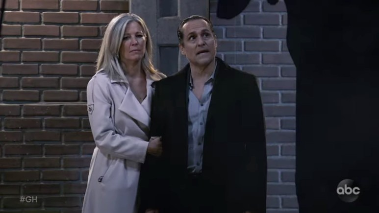 Laura Wright and Maurice Benard as Carly and Sonny.