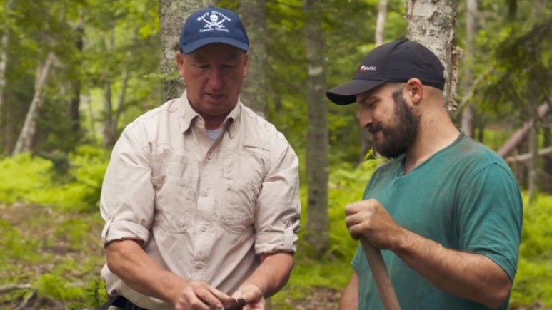 Jack Begley and Gary Drayton on Oak Island