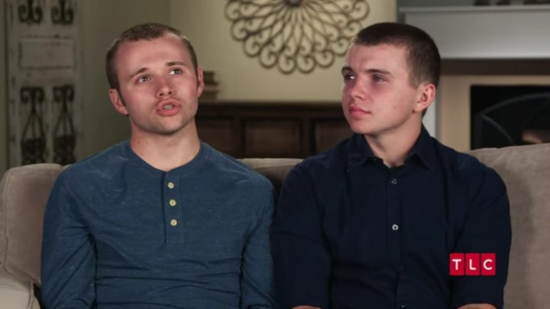 Jason and James Duggar in a Counting On confessional.