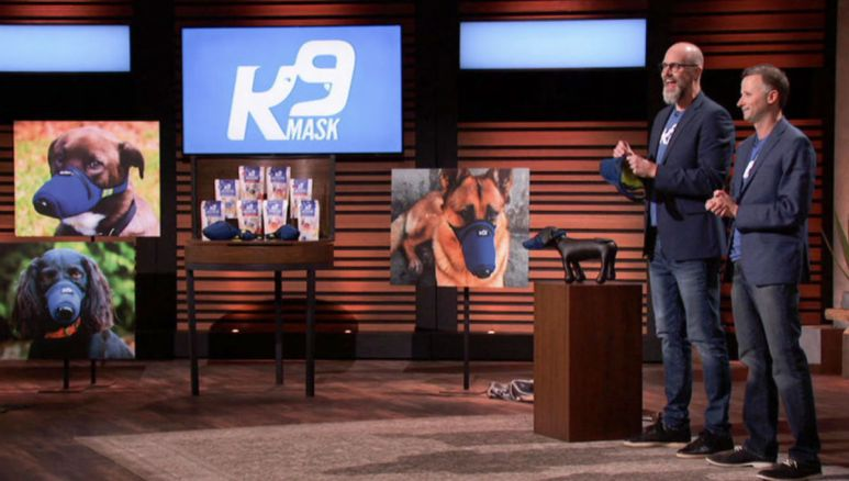 What is K9 Face Mask that is featured on Shark Tank?