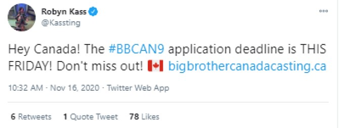 Robyn Kass BBCAN9