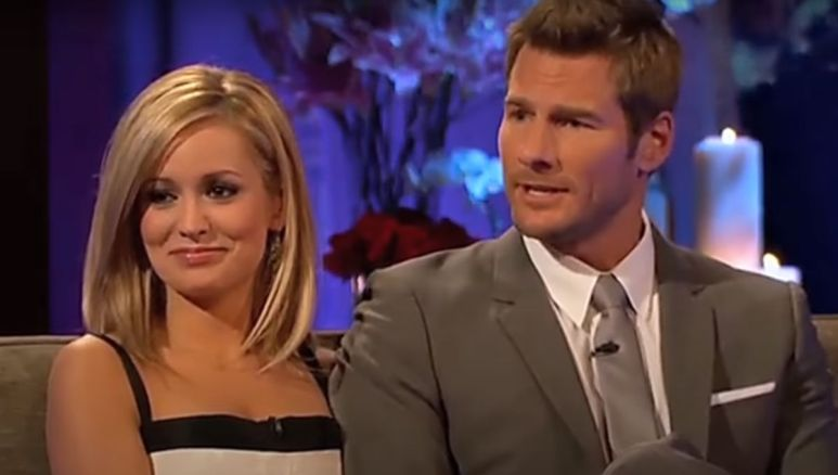 Emily Maynard and Brad Womack sit together during their interview on After the Final Rose