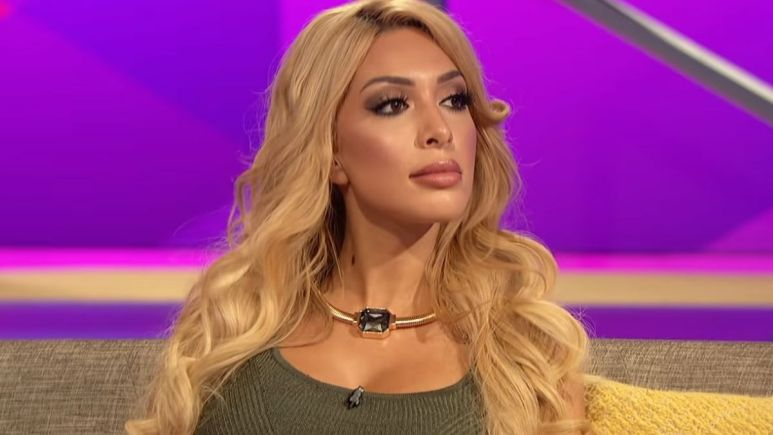 Farrah Abraham during a reunion episode of Teen Mom OG
