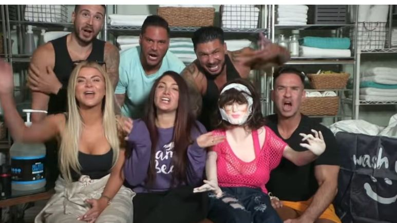 The cast of Jersey Shore Family Vacation during a confessional interview