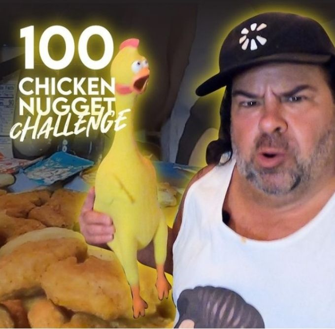 Big Ed takes on the 100 chicken nugget challenge on his YouTube channel.