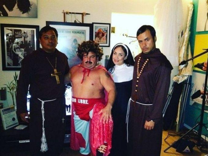 Throwback Halloween photo of Big Ed as Nacho Libre.