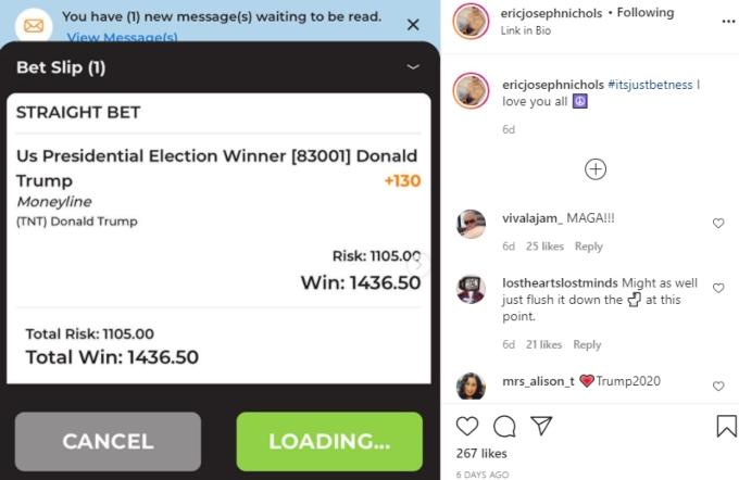 Eric Nichols bet on Trump