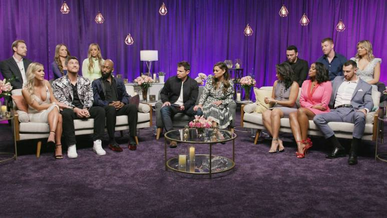 The Love Is Blind cast films the reunion episode.