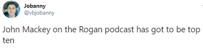 praise for Rogan's podcast