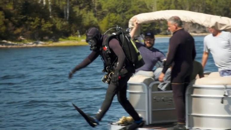 Alex Lagina dives off Oak Island