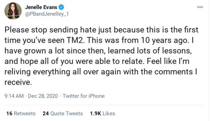 Jenelle's Twitter comment.