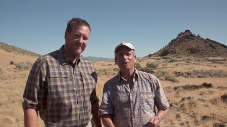 Matty Blake and Warren Getler on Oak Island