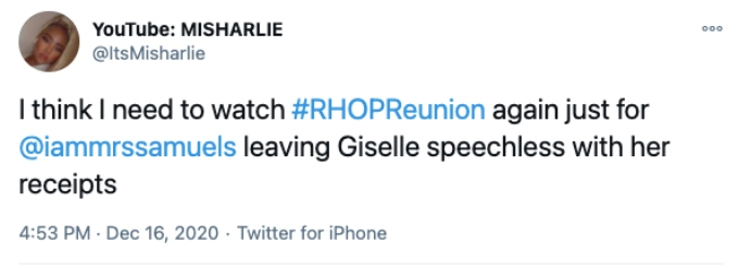 Twitter user reacts to RHOP reunion