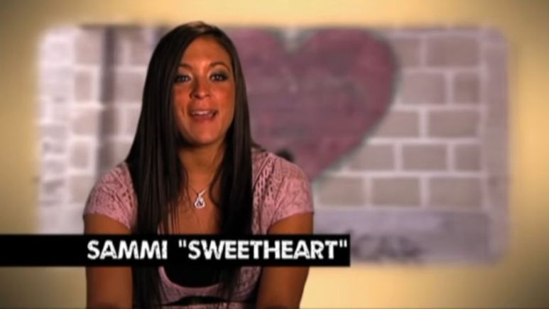 "Sammi ""Sweetheart"" Giancola during an episode of Jersey Shore"