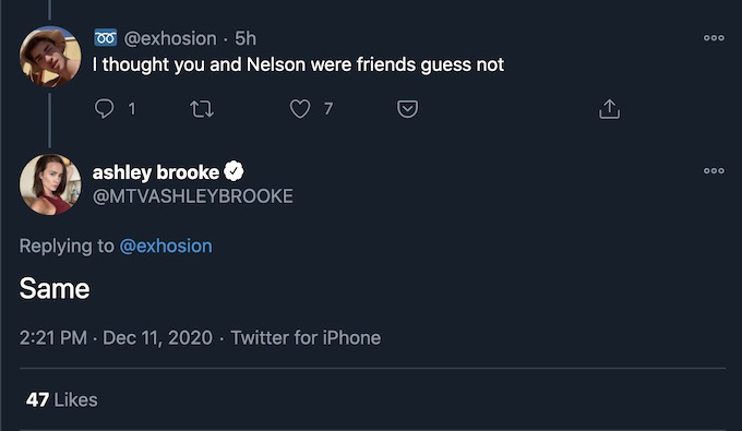 ashley nelson tweet after double agents premiere