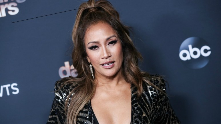 Carrie Ann Inaba at Dancing with the Stars Finalists party in 2019.