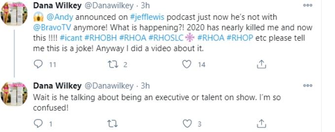 Dana Wilkey is worried that Andy Cohen is leaving Bravo