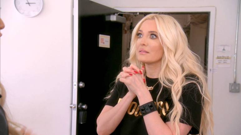 Erika Jayne films for RHOBH.