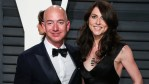MacKenzie Scott and Jeff Bezos on the red carpet while still married