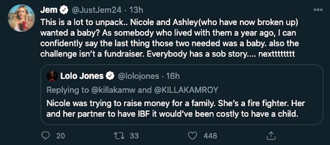 lolo vs jemmye tweets about nicole