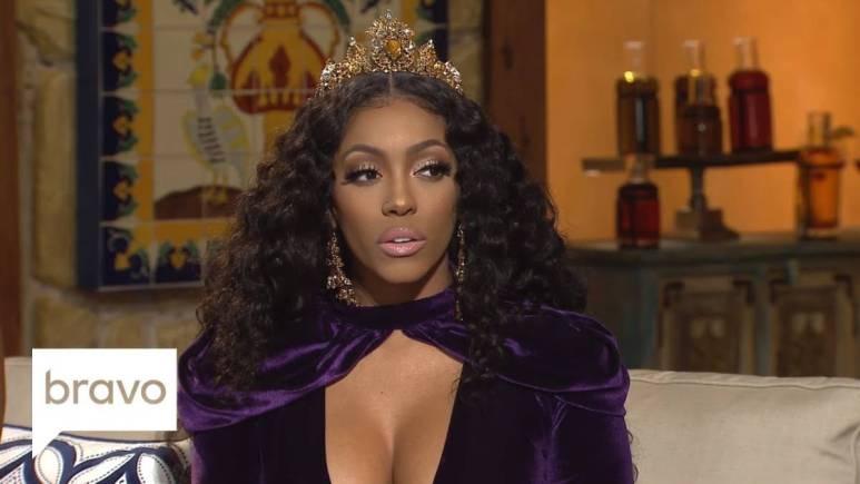 Porsha declares herself the queen of RHOA wearing crown for the Season 10 reunion.