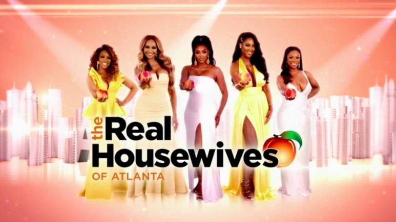 The Real Housewives of Atlanta cast poses for the title screen.