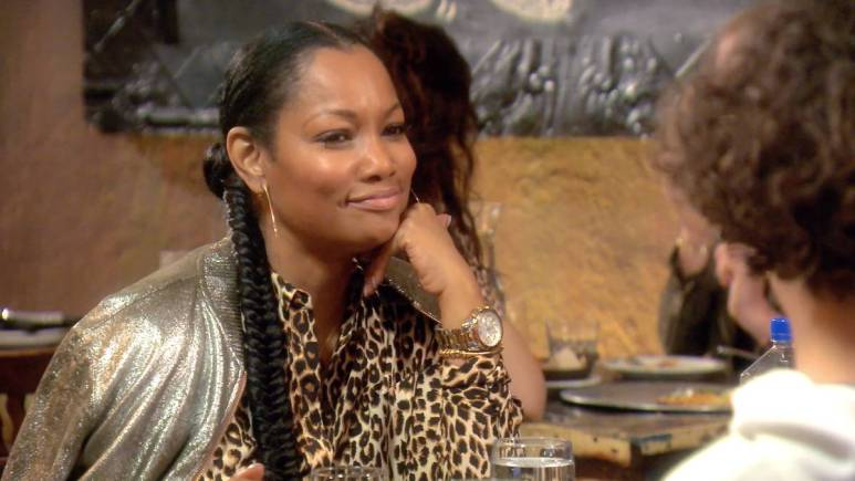 Garcelle Beauvais talks to her son while filming RHOBH.