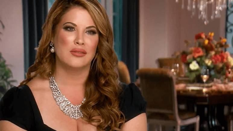 Emily Simpson speaks during a confessional interview for RHOC.