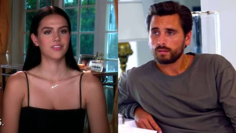 Amelia Hamlin films a confessional interview for RHOBH while Scott Disick films for KUWTK