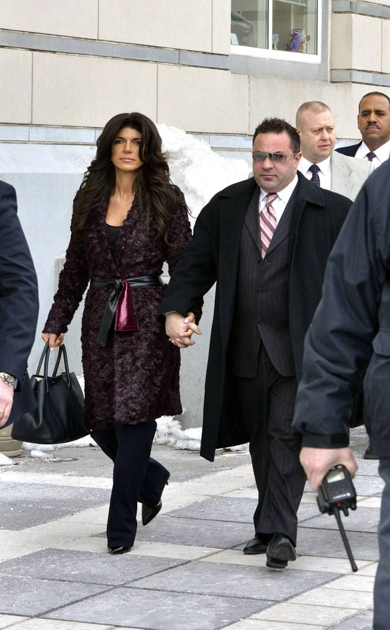 Teresa Giudice and Joe Giudice appear at court to plead guilty to their charges.