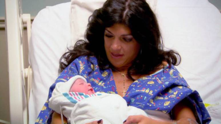 Teresa Giudice gives birth to Audriana.