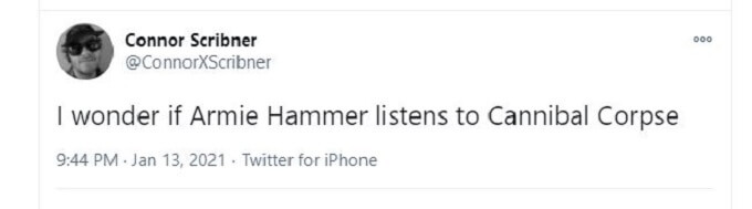 Armie Hammer Cannibal Corpse