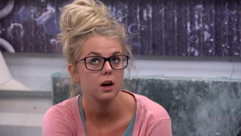 Nicole Franzel in Big Brother confessional.