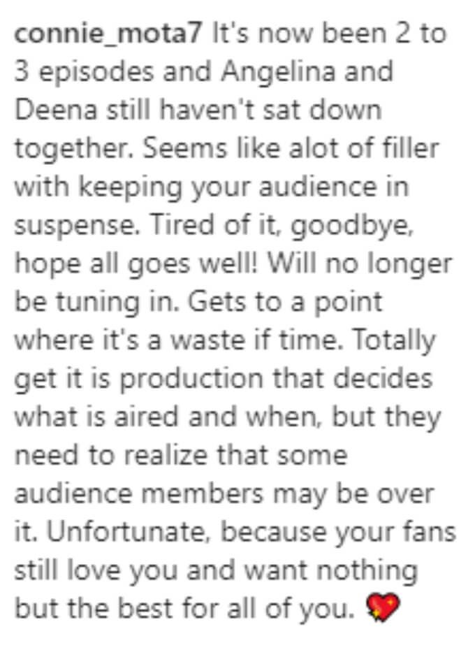 Fan becomes frustrated with the ongoing wedding drama and says they no longer want to watch the show