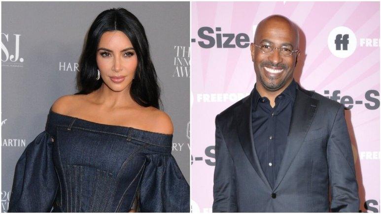 Kim Kardashian and Van Jones on the red carpet