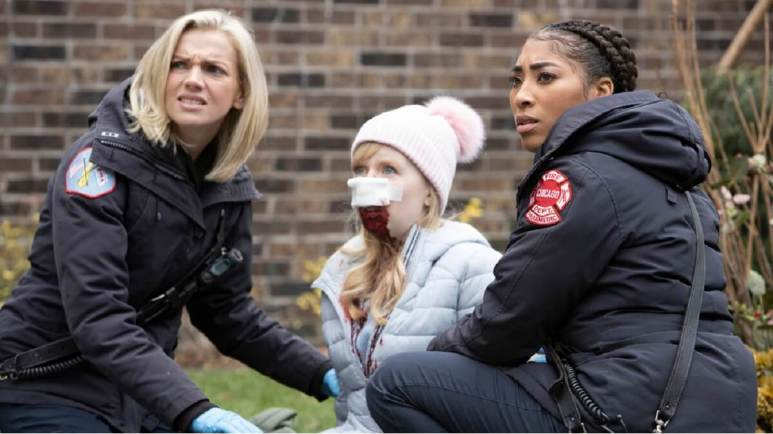Kara Killmer as Sylvie Brett, Adriyan Rae as Gianna Mackey -- Pic by: Adrian S. Burrows Sr./NBC