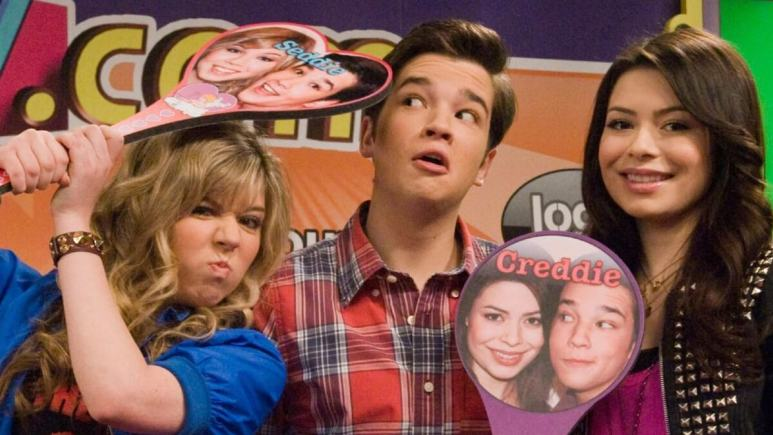 Picture of cast members from an episode of iCarly.